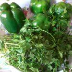 Фото сладкого перца с зеленью