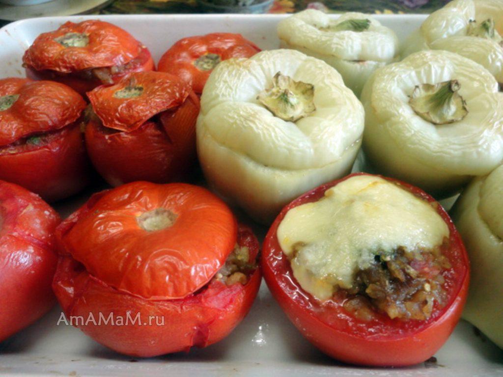 Как делают фаршированные овощи в духовке - рецепт и фото