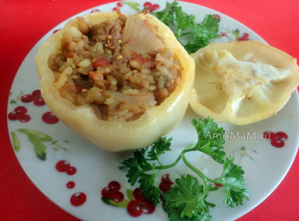 Блюда из фаршированных овощей - рецепт греческий (йемиста)