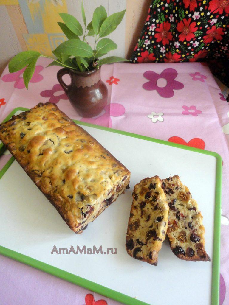 Сухофрукты - рецепт кекса