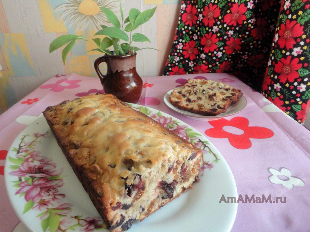 Рецепт кекса из сухофруктов с фото приготовления
