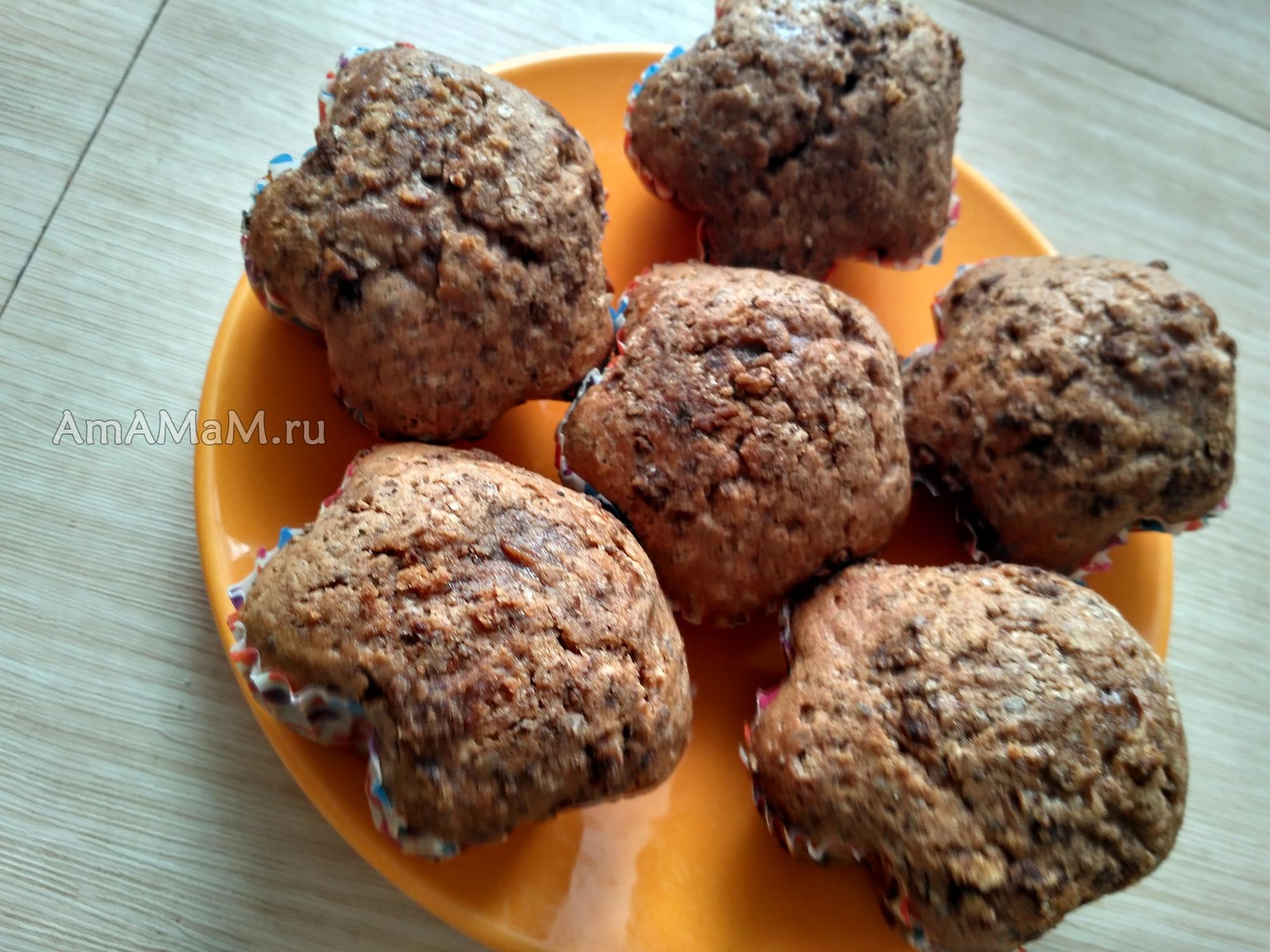 Шоколадные кексы, приготовленнные в силиконовой формочке