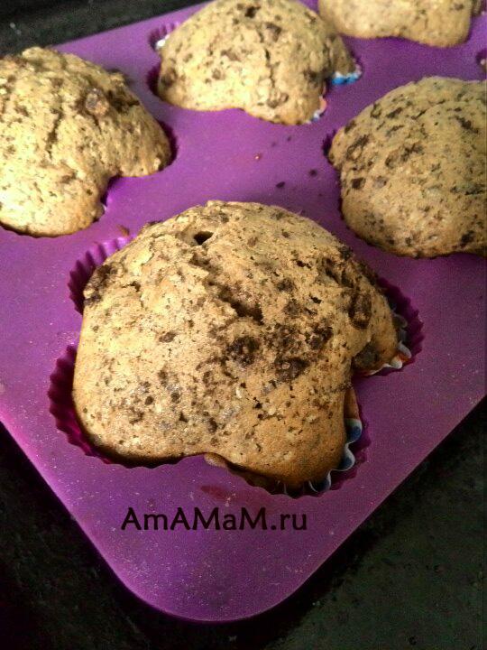 Готовые шоколадные кексы - рецепт и фото с начинкой из шоколада
