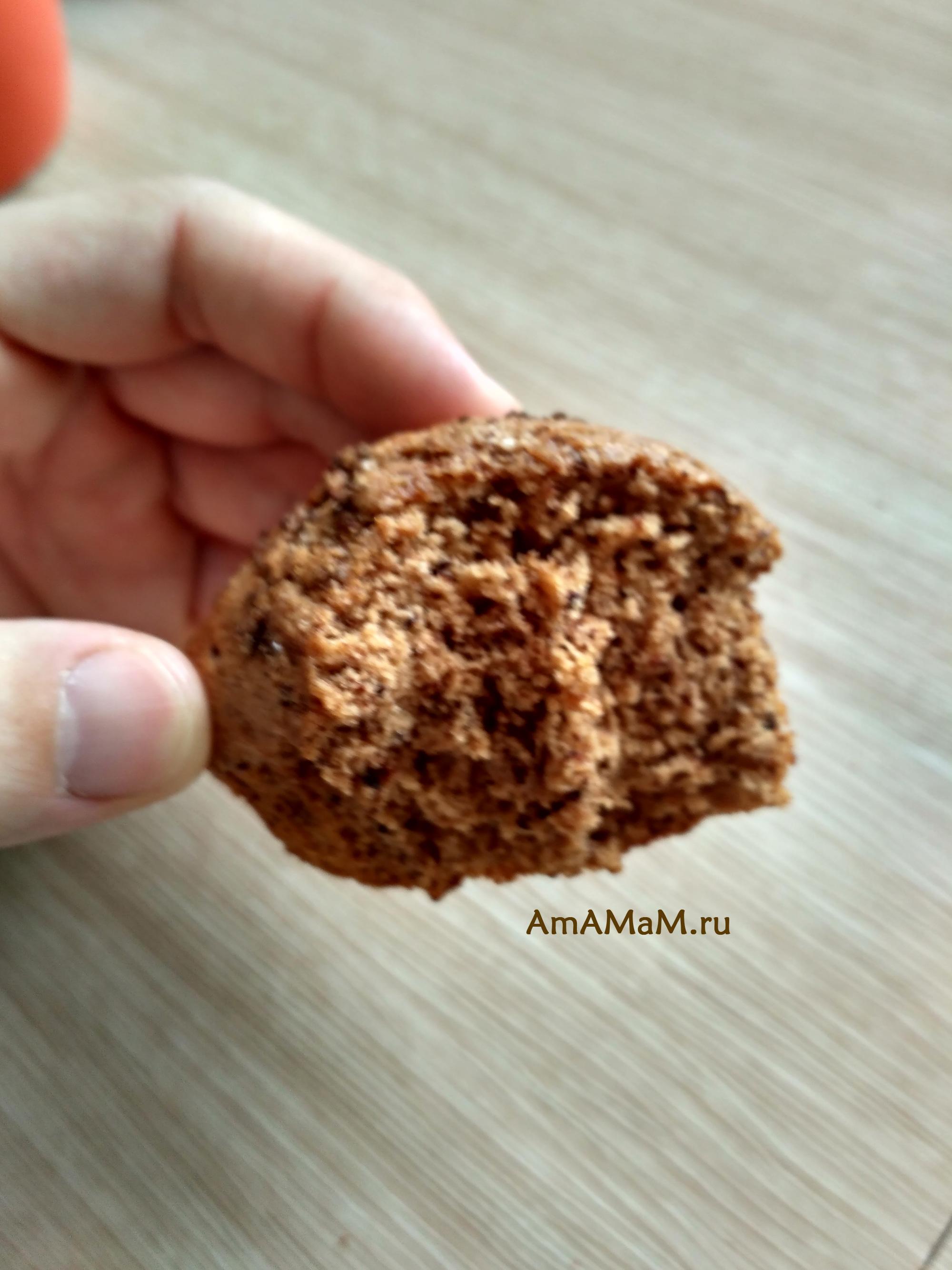 Кексы шоколадные - фото и рецепт