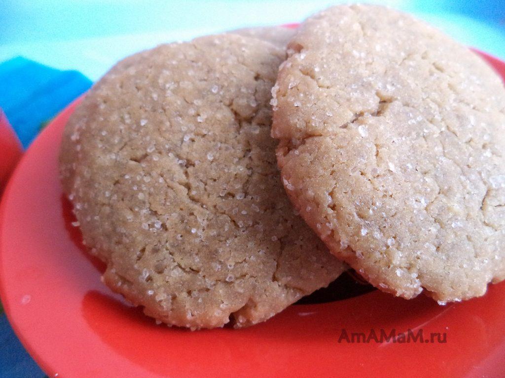 Домашнее печенье кофейное - рецепт и фото
