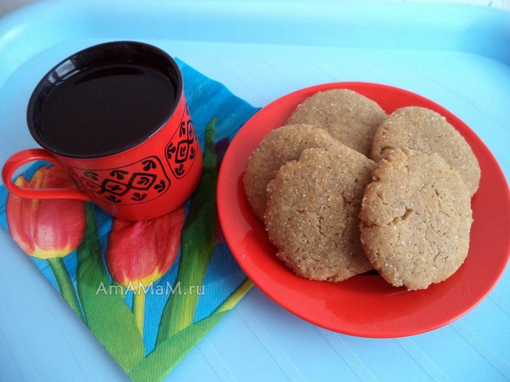 Приготовление песочного кофейного печенья на растительном масле