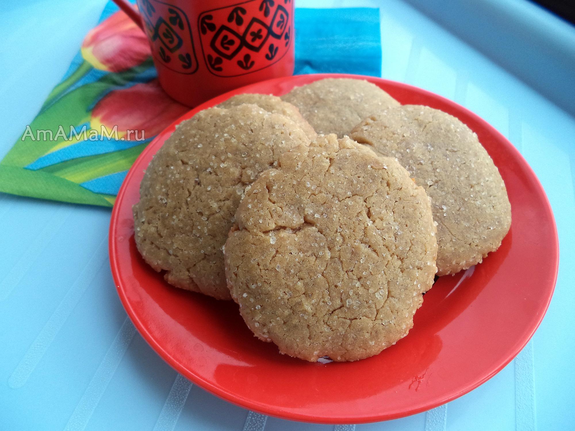Выпечка к чаю - как делают кофейное печенье на растительном масле - рецепт и фото
