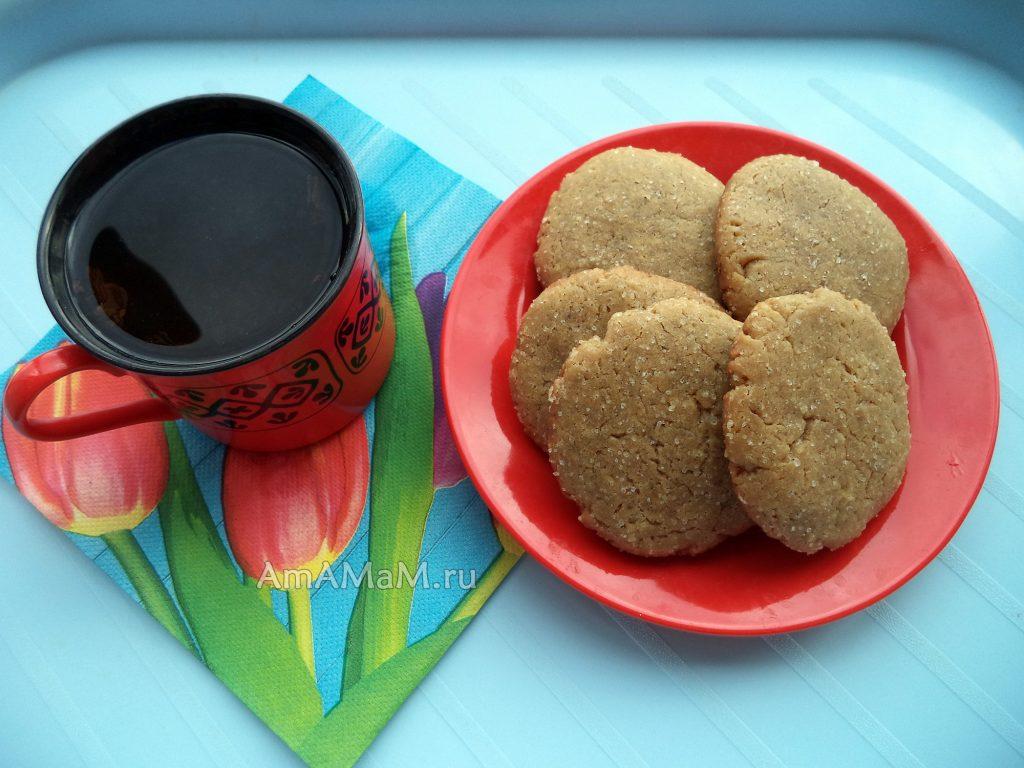 Песочное печенье на растительном масле с добавлением кофе