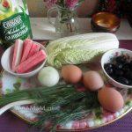 Состав и приготовления салата из крабовых палочек