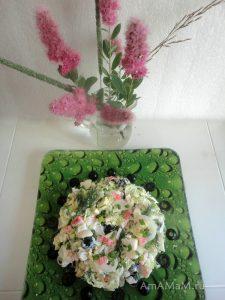 Китайский салат с крабовыми палочками и яйцами - простой и вкусный салат
