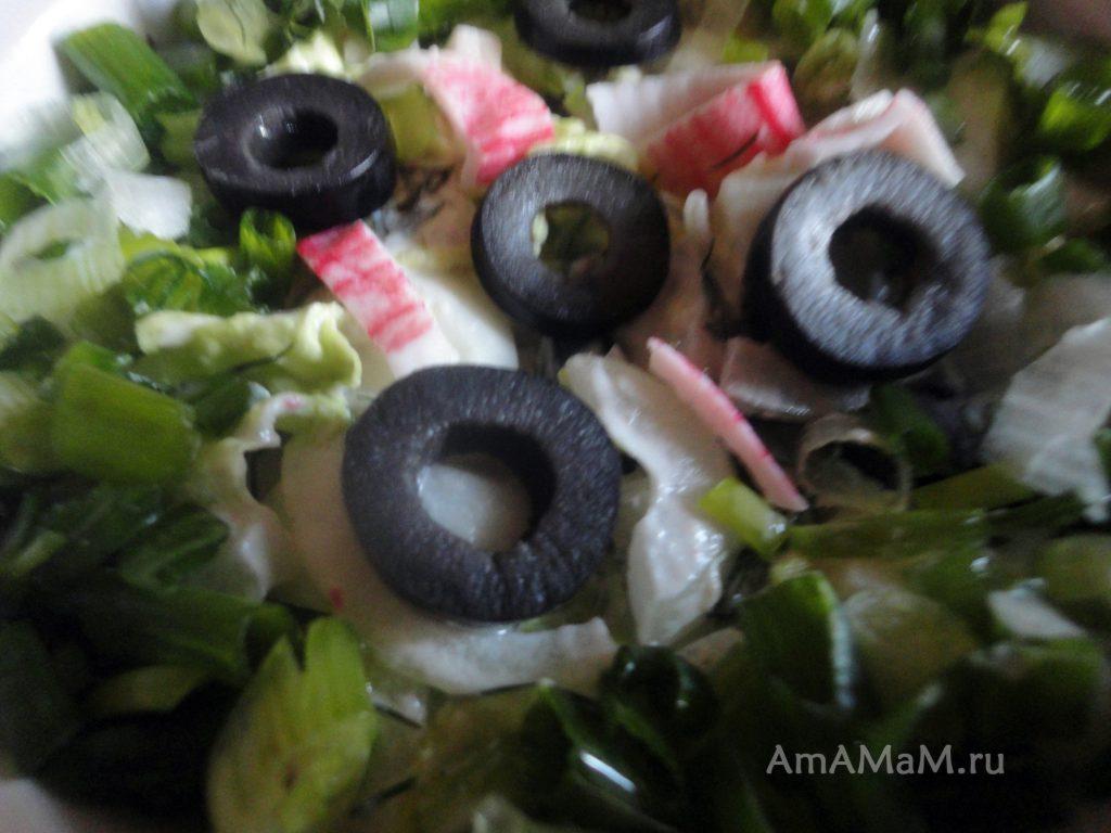 Салат из крабовых палочек - рецепт и фото