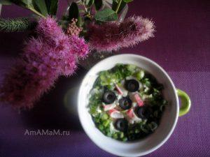 Рецепт салата с крабовыми палочками и пекинской капустой