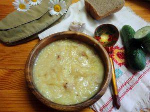 Рецепты полевой кухни - кулеш с салом