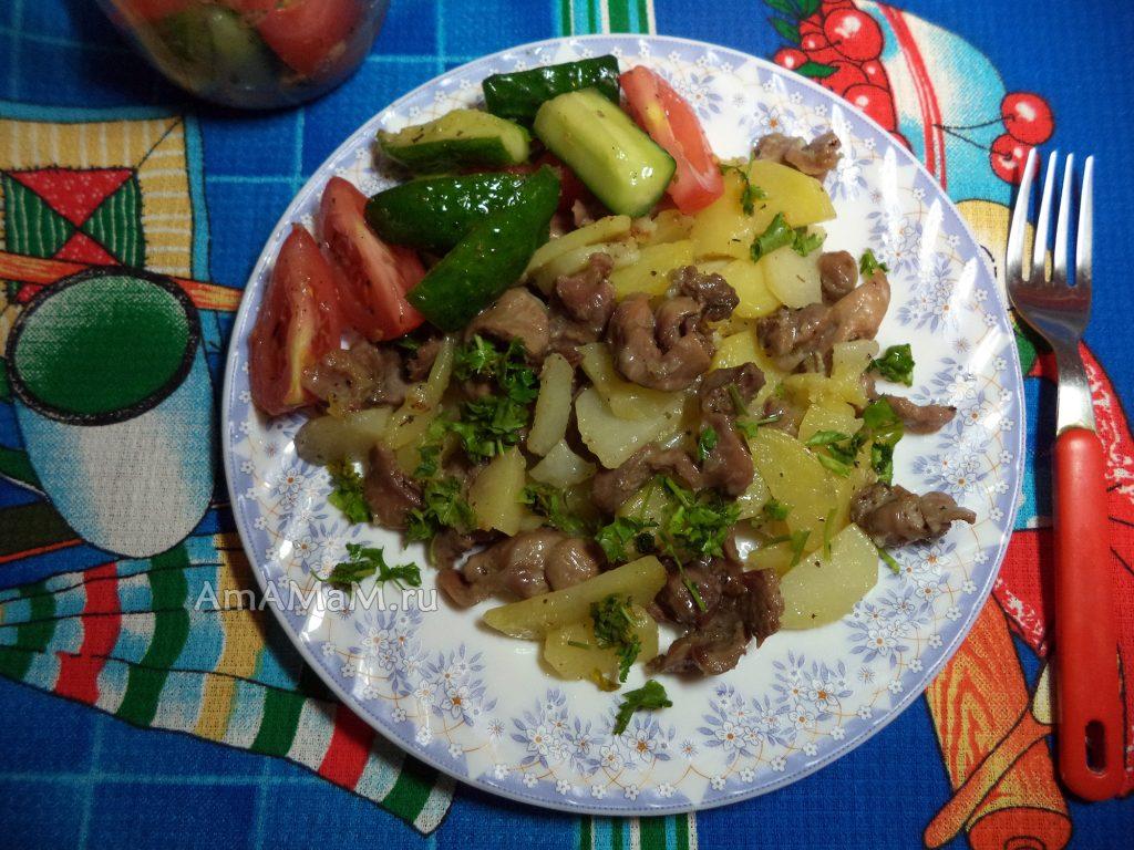 Что сделать из куриных желудков - вкусный и недорогой ужин