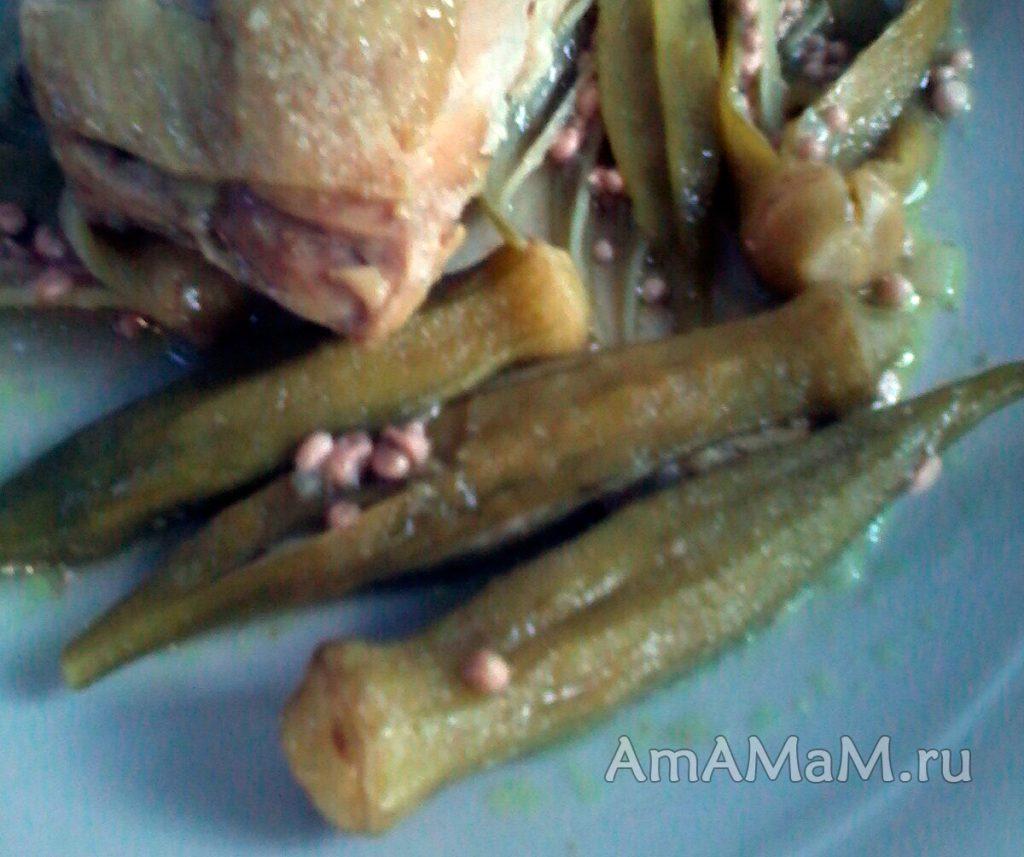 Вкусные греческие рецепты - курица с бамией