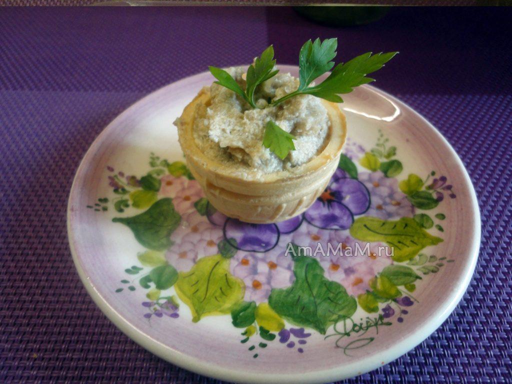 Плавленые сырки с грибами - бутербродная паста (паштет)
