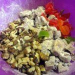 Пирог с сухофруктами - начинка с орехами
