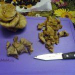 Нарезка инжира для пирога