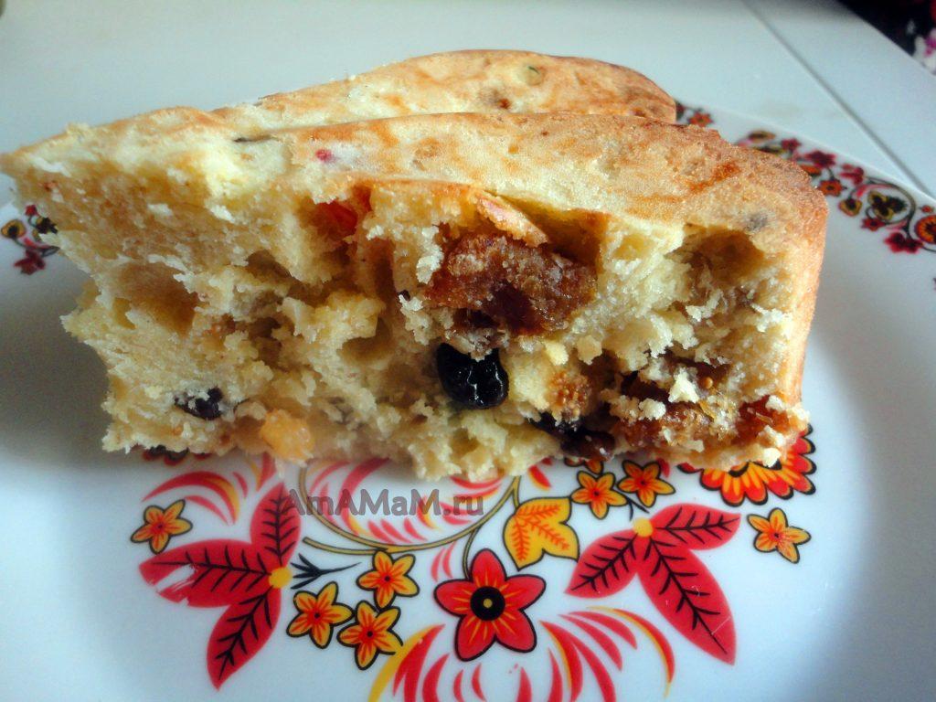 Инжирный пирог из сухофруктов