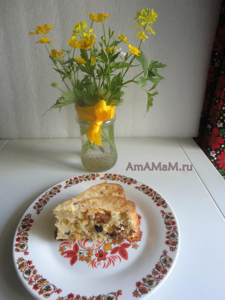 Пирог к чаю с сухофруктами