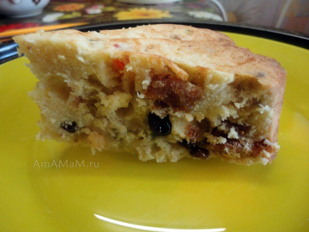 Рецепт пирога из инжира (сухофрукты)