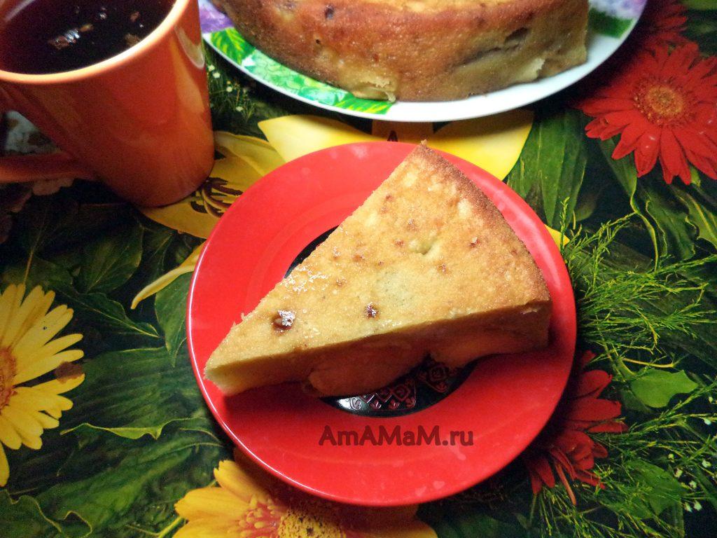 Яблочный пирог с бананом - способ приготовления и фото