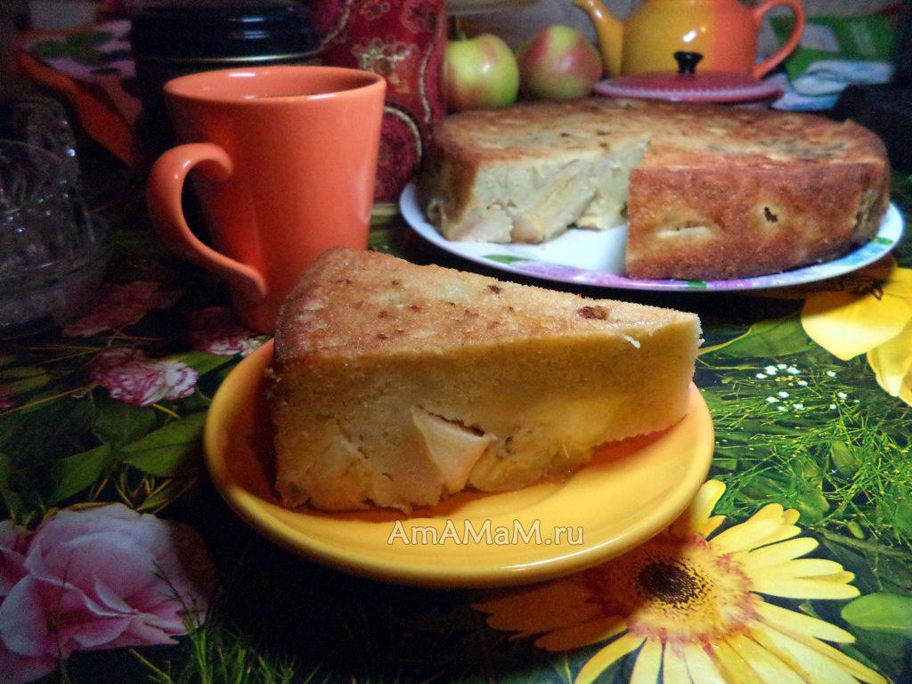 Выпечка яблочного пирога с бананами - рецепт и пошаговые фото