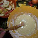 Пирог из яблок и бананов - фото теста