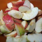 Приготовление пирога с яблоками и бананами - фото начинки