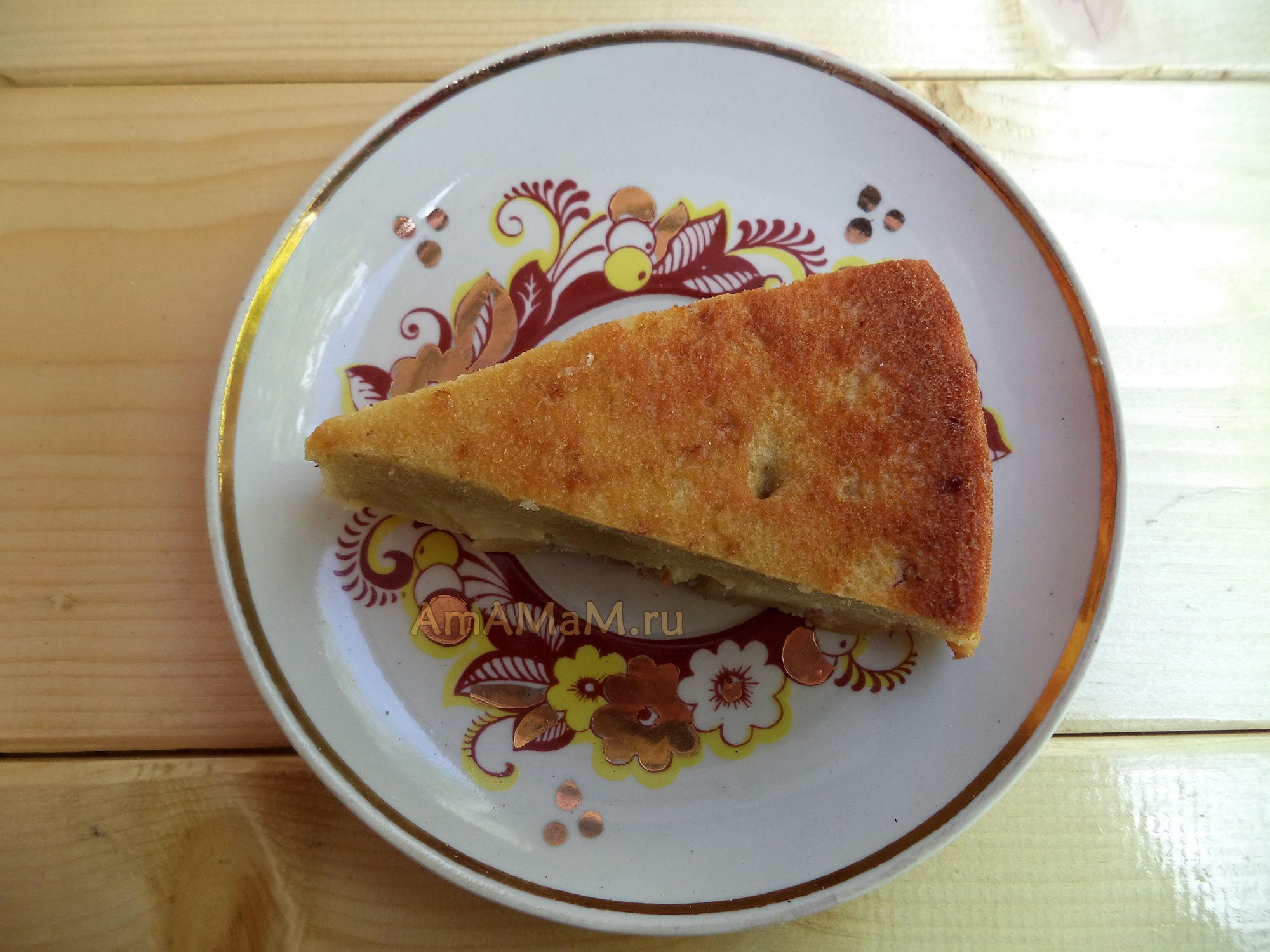банано яблочный пирог простой рецепт
