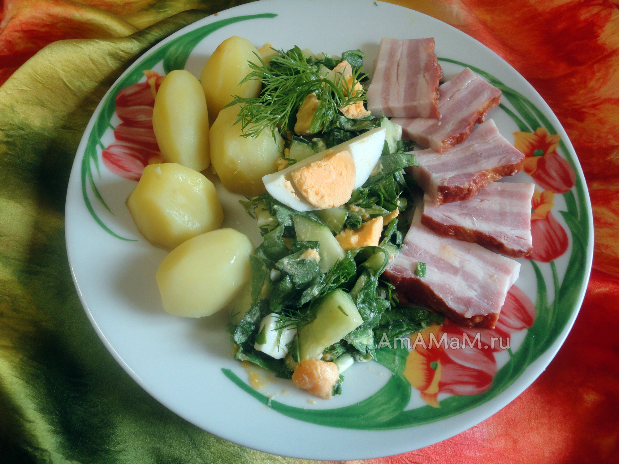 рецепты щавель яйцо вареное салат