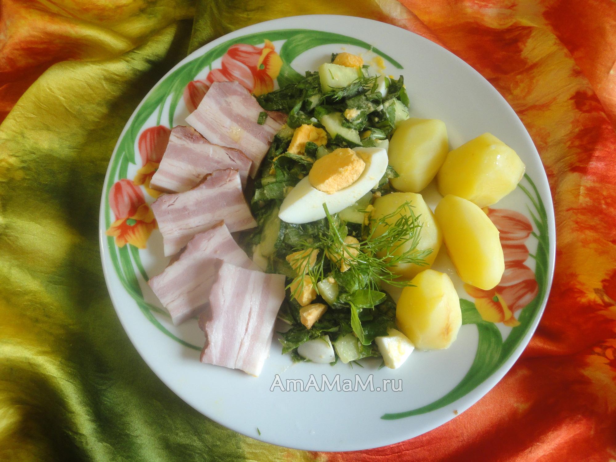 Салат из щавеля рецепты приготовления