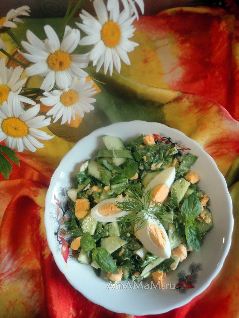 Летний салат со щавелем - рецепт и фото