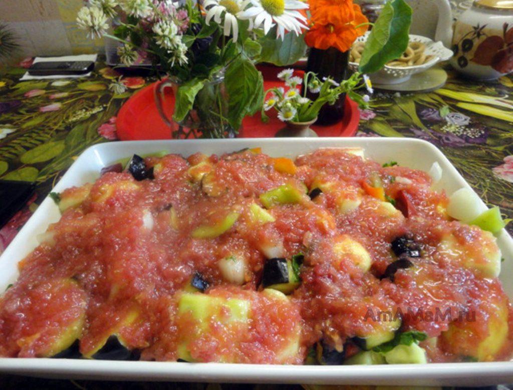 Греческий рецепт овощного рагу
