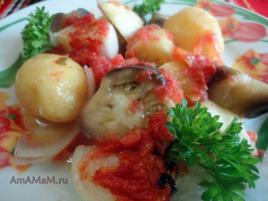 Греческий бриам со сладким перцем - рецепт