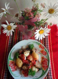 Рецепт тушеных (запеченных) овощей в томатном соусе