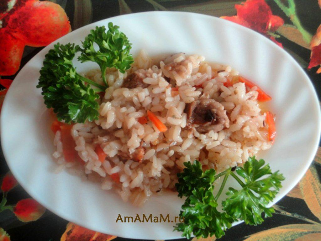 Диафрагма - приготовление с рисом (плов)