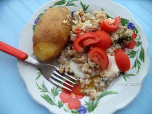 Обед на скорую руку - жареный фарш, рецепт