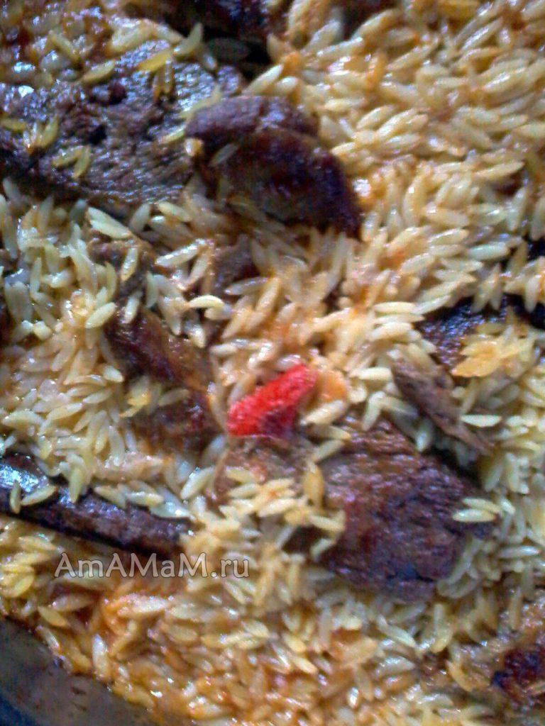 Вкусное блюдо из телятины (говядины) с макаронами критараки