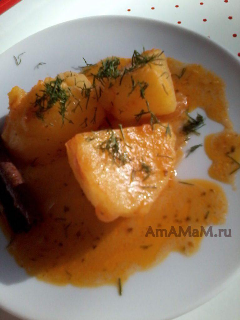 Рецепт из Греции - тушеная картошка