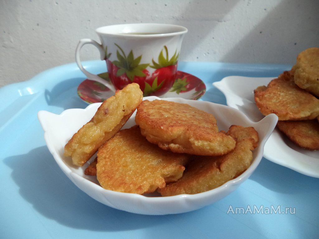 Фруктовые оладьи - рецепт с апельсином и яблоками