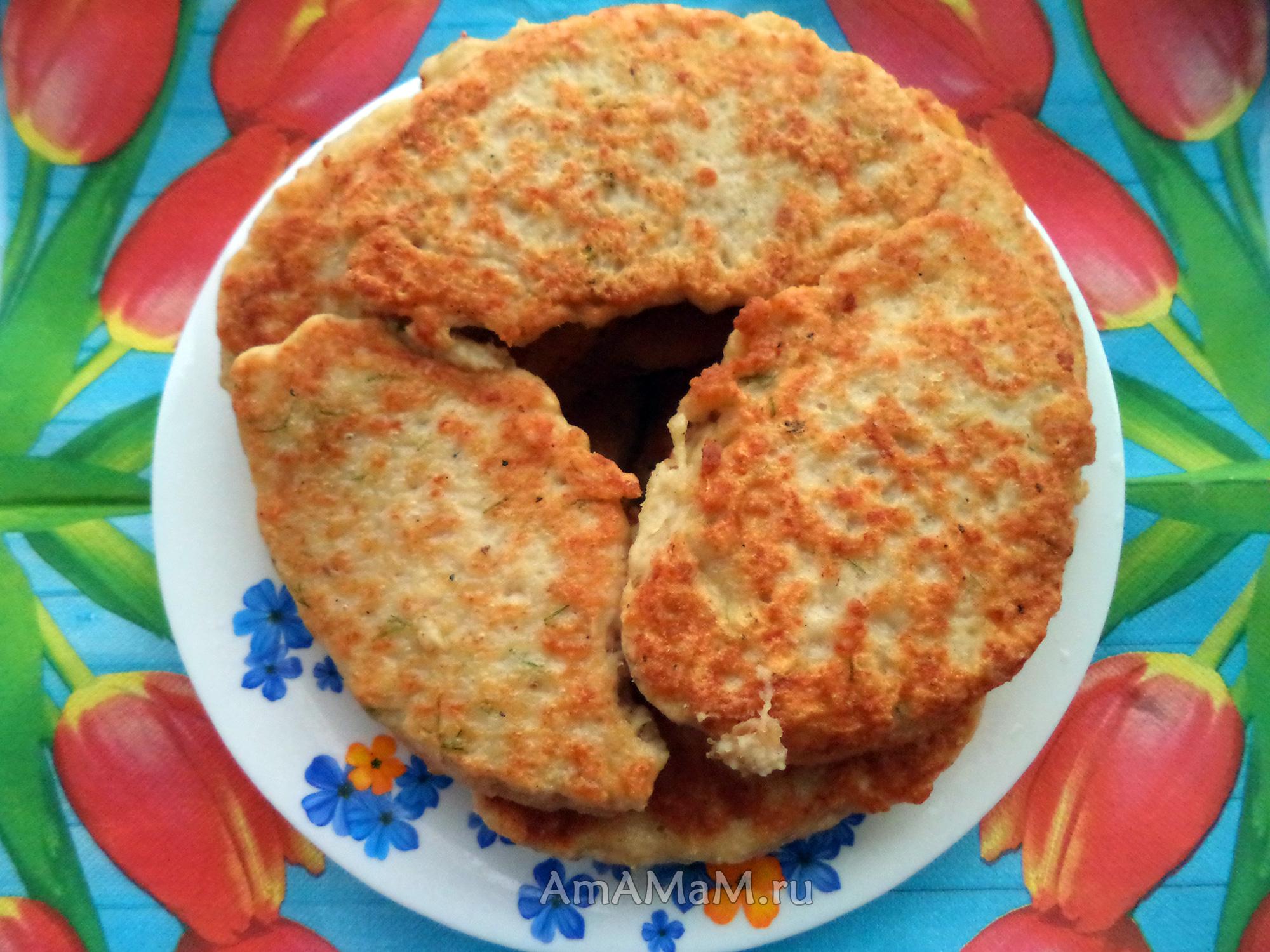 Мясные оладьи из куриного фарша - способ приготовления, рецепт и фото