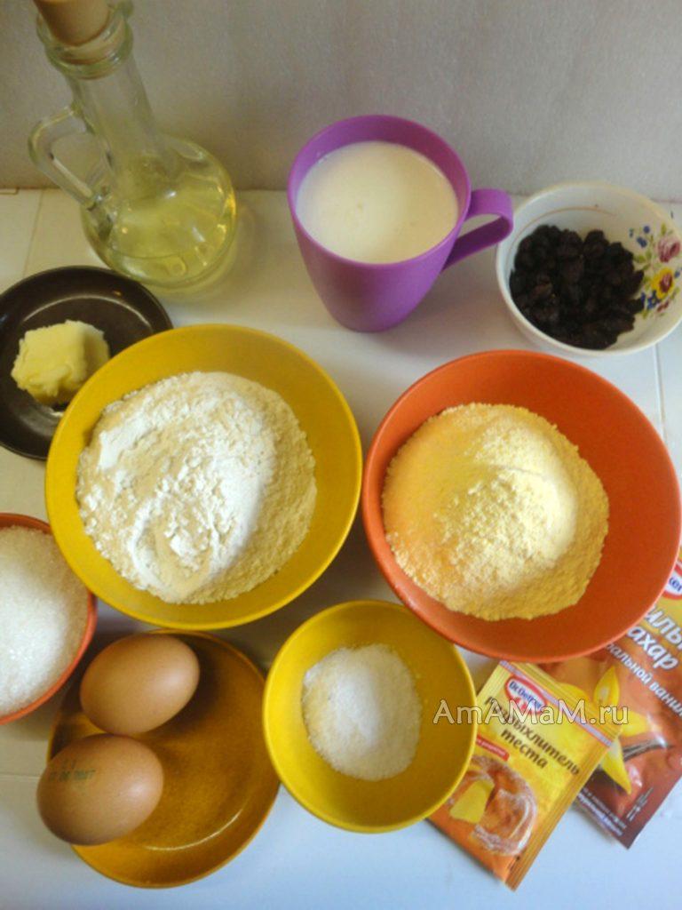 Что приготовить из кукурузной муки - состав пирога