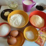 Кекс (пирог) с кукурузной мукой и изюмом
