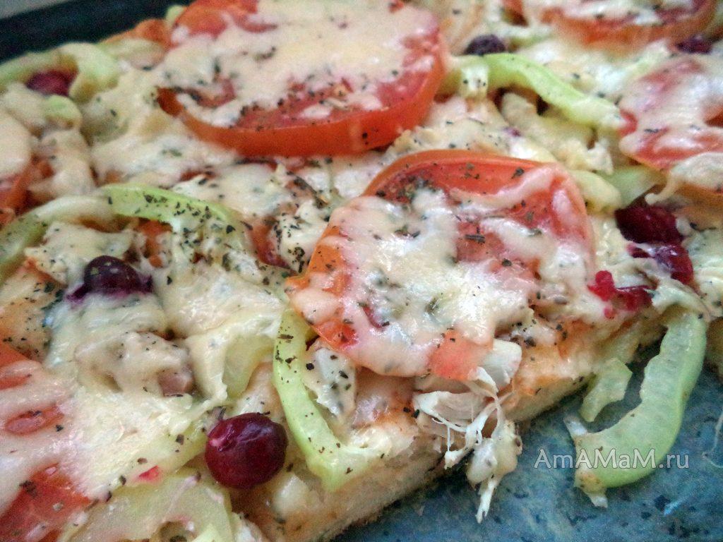 Пицца с курицей - рецепт
