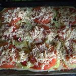 Пицца домашняя на домашнем дрожжевом тесте