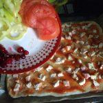 Пицца с курицей - куриный слой