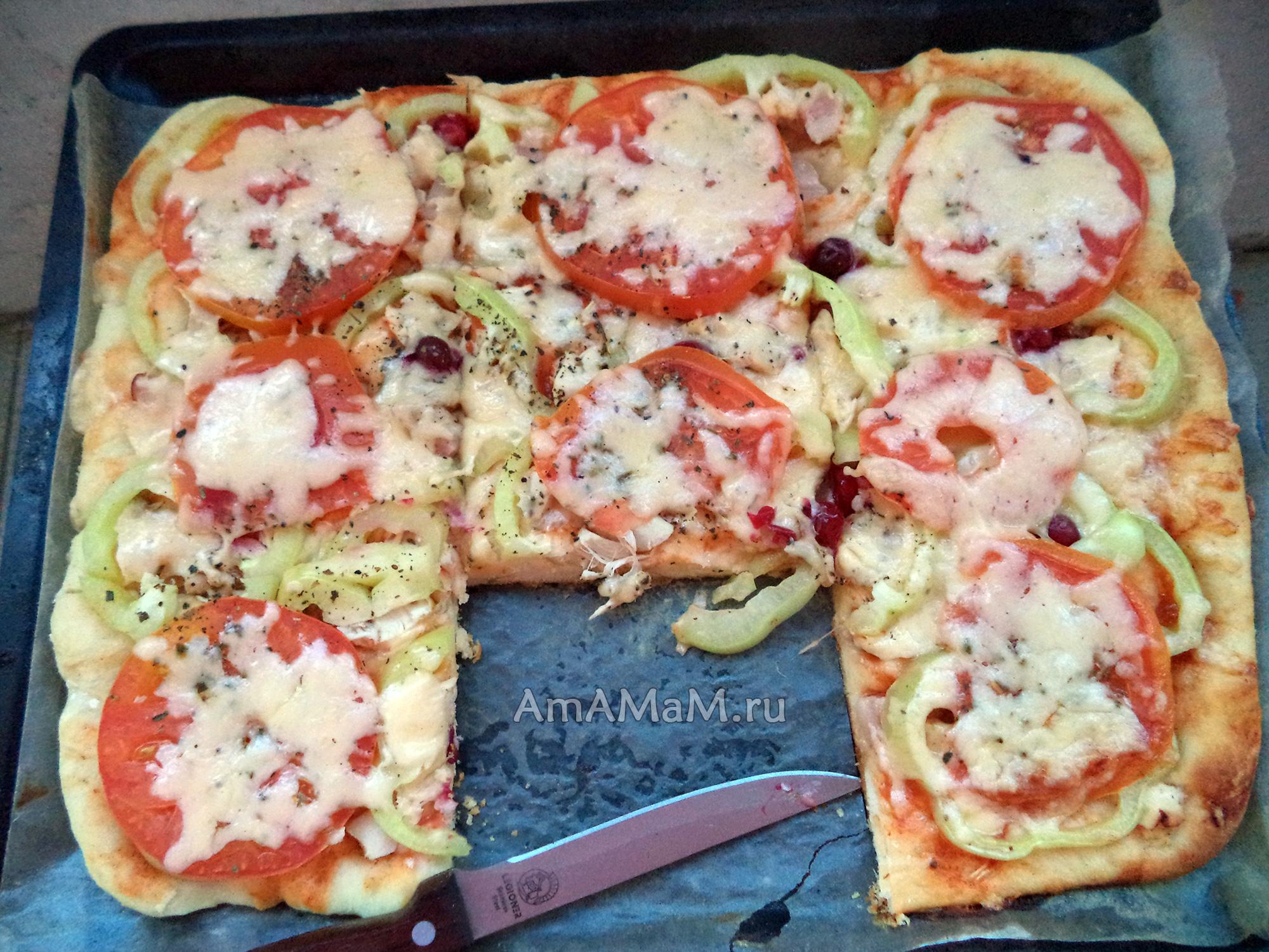 Вкусная пицца своими руками с колбасой 96