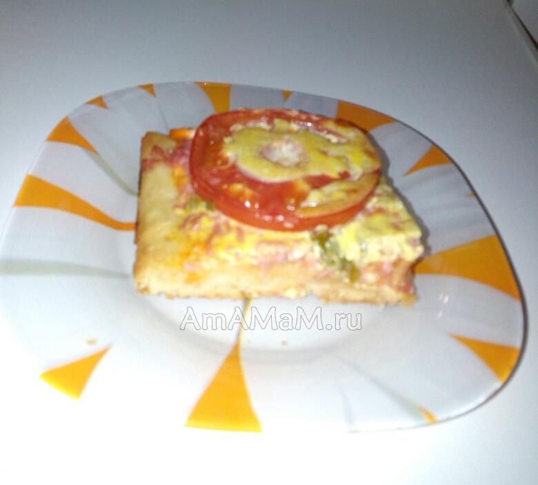 Тесто на майонезе- рецепт пиццы