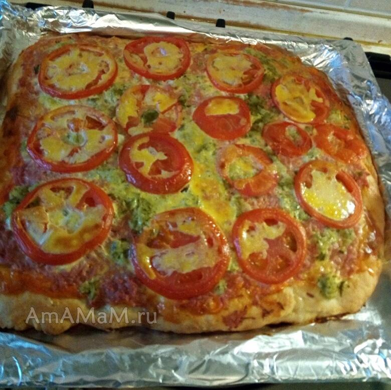 тесто на пиццу на майонезе и яйцах
